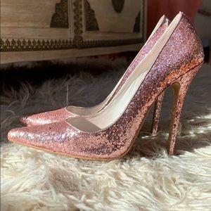 Jeffrey Campbell Pink Glitter Pumps Size 8